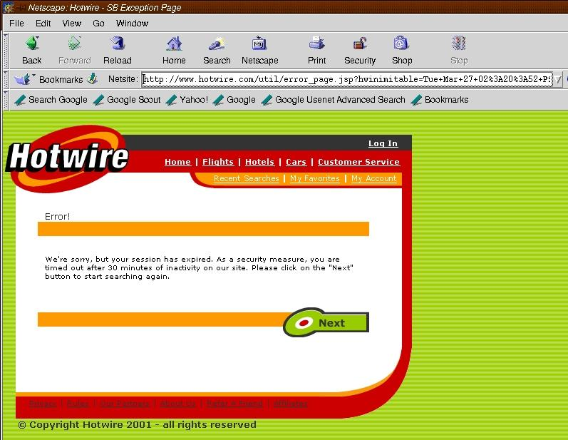 "Hotwire Car: Problem With ""Hotwire.com"""