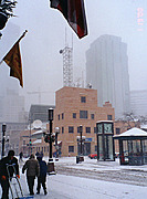 Nicollet Mall and 11th Street(snowing)