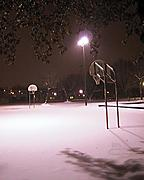 Basketball Court in Winter