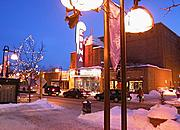 Edina Theater at Night in Winter