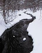 Minnehaha Creek by West 49th Street, in Winter