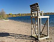 Lifeguard Chair in Fall