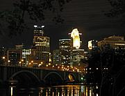 Skyline and 3rd Avenue Bridge at Night