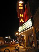 Edina Theater at Night