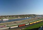 Mississippi River and Harriet Island