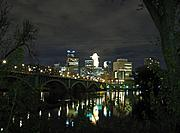 River and Skyline at Night
