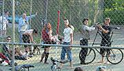 Kids on Tennis Court