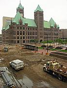 Construction in Front of City Hall