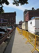 Construction Trailers on 5th Street