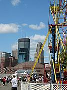 Ferris Wheel and Minneapolis Skyline