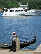Gondola and Yacht on the St. Croix River