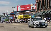 Zebra-Striped Car in the Art Car Parade