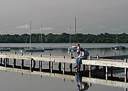 Boy on the Dock on Lake Harriet