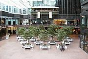 Crystal Court showing Basil's Restaurant