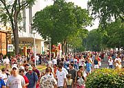 State Fair Crowd on Cosgrove Street