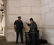 Cop Outside Union Station