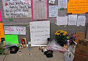 Memorials Outside the Wellstone Campaign Headquarters