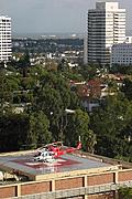 Helicopter on UCLA Medical Center Helipad