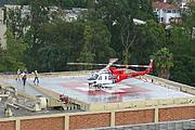 Helicopter Landing at UCLA Medical Center