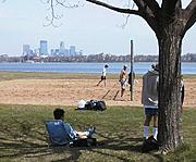 Volleyball Court by Lake Calhoun