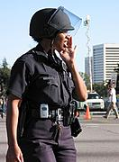 LAPD Police Officer at a Protest