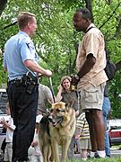 Police Officer Talking to Minneapolis Resident