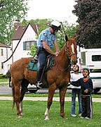 Mounted Police and Kids at a Park