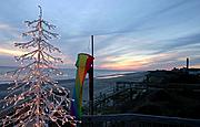 Christmas Tree on the Beach at Sunset