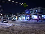 Linden Hills at Night in Winter