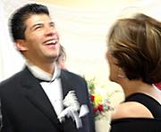 Laughing after Wedding