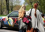 Young Women and Art Car