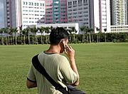 Young Man on Cellphone, Shenzhen, China