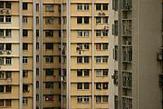 Closeup of Apartment Buildings in China