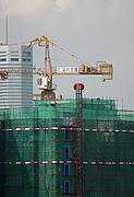 Close-up of High-Rise Under Construction