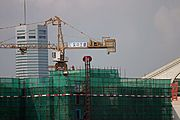 Close-up of Shenzhen Construction Project
