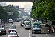 Traffic on Jianshe Road, Shenzhen