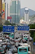 Traffic on Shengnan Road, Shenzhen