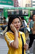 Woman on Cellphone, Downtown Shanghai