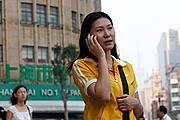 Jenny on Cellphone, Shanghai, China