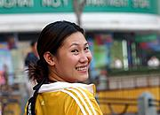 Woman Smiling in Shanghai