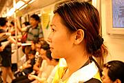 Woman on the Shanghai Subway
