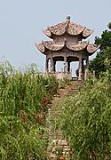 Pagoda in a Garden in Hengdian, China