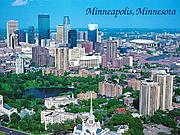 Aerial View of Minneapolis, Minnesota