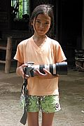 Filipina Girl Posing with Camera