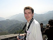 Photographer at the Great Wall of China