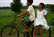Boy and Girl on Bike, the Philippines