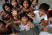 Filipino Schoolkids Laughing