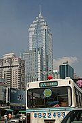 Skycraper and Bus in Shenzhen
