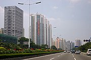 Binhe Avenue in Shenzhen, China