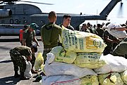 US Marines Loading Relief Supplies